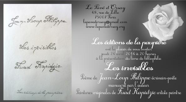 Carton invitation«Les invisibles»copie