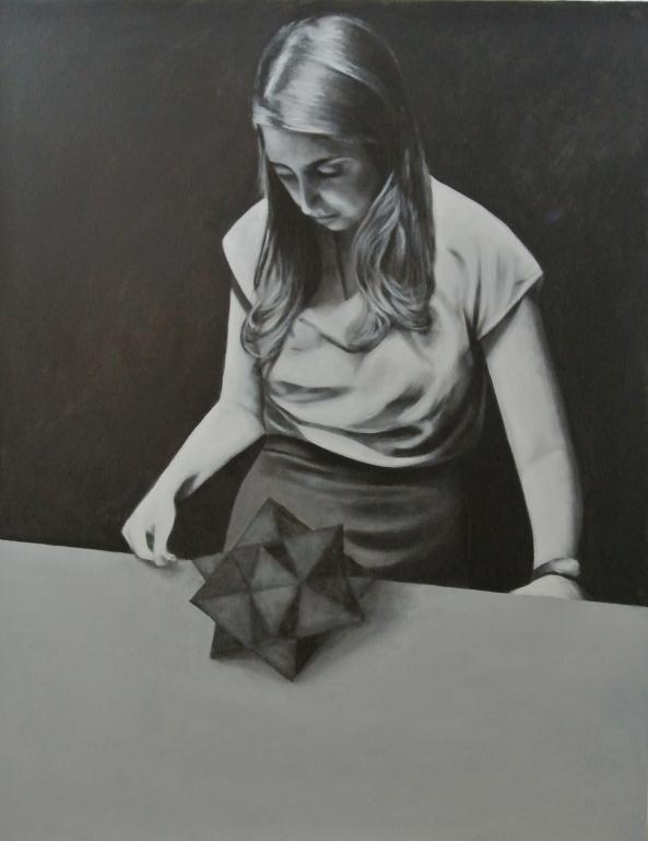 Bryan Ley -la protectrice-(l'étoile)acrylique sur toile 146x114cm 2014