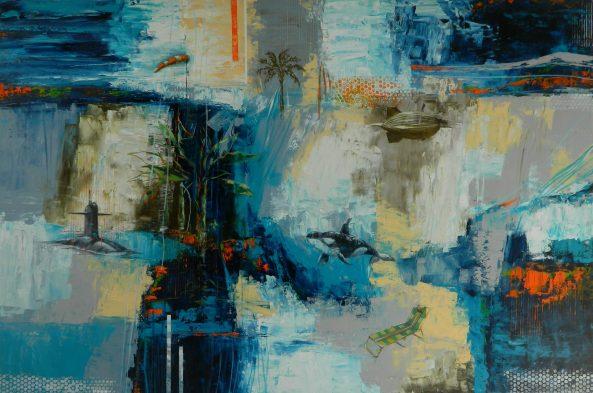 Luiz Badia Brisa constante azul trepidante - 120 x 180 cm - AST - 2014